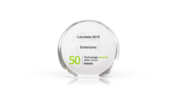 Embrionix named one of Deloitte's Fast 50 businesses 2016