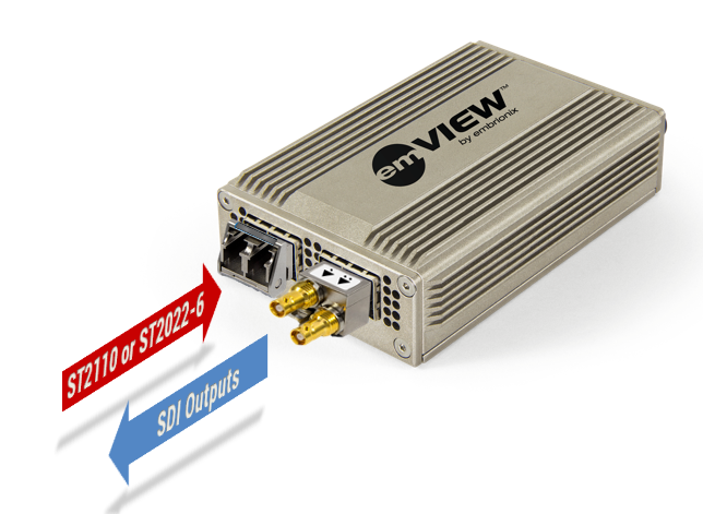 emVIEW-SDI - Standalone IP Gateway (SDI out)